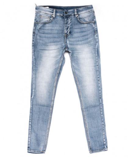 0010-01 New jeans джинсы мужские молодежные голубые весенние стрейчевые (28-36, 11 ед.) New Jeans