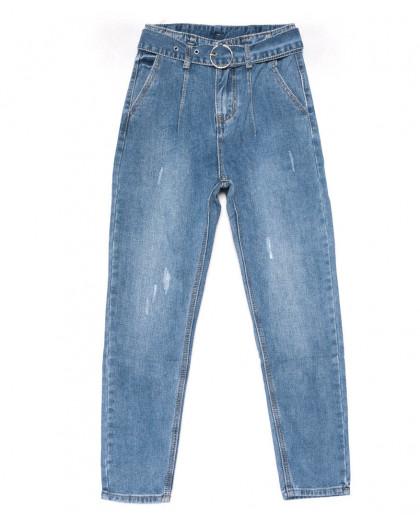 3606 New jeans мом голубой с царапками весенний коттоновый (25-30, 6 ед.) New Jeans