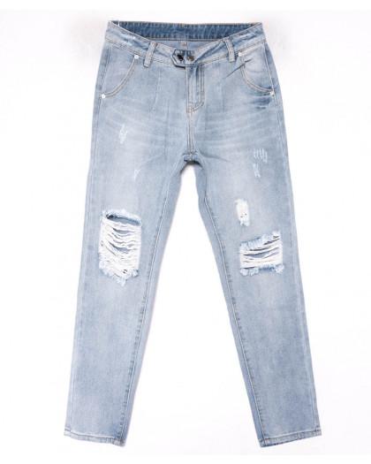 3616 New jeans мом голубой с царапками весенний коттоновый (25-30, 6 ед.) New Jeans