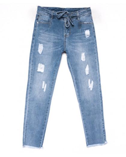 3592 New jeans мом голубой с царапками весенний коттоновый (25-30, 6 ед.) New Jeans