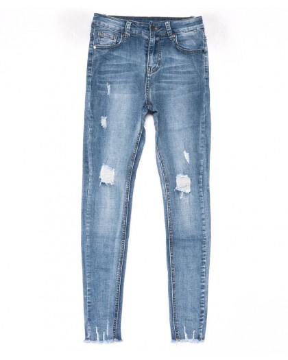 3611 New jeans американка синяя с царапками весенняя стрейчевая (25-30, 6 ед.) New Jeans