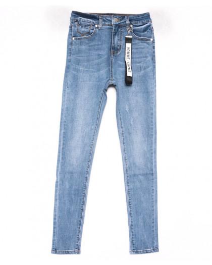3574 New jeans американка голубая с царапками весенняя стрейчевая (25-30, 6 ед.) New Jeans