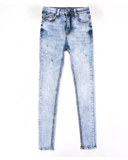 3602 New jeans американка голубая с царапками весенняя стрейчевая (25-30, 6 ед.) New Jeans