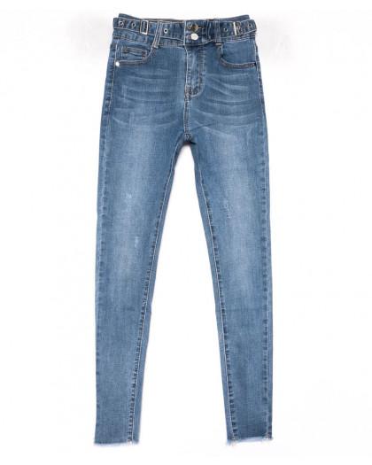3613 New jeans американка синяя с царапками весенняя стрейчевая (25-30, 6 ед.) New Jeans