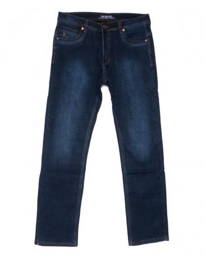 6533 Bagrbo джинсы мужские полубатальные синие на флисе зимние стрейчевые (32-38, 8 ед.) Bagrbo
