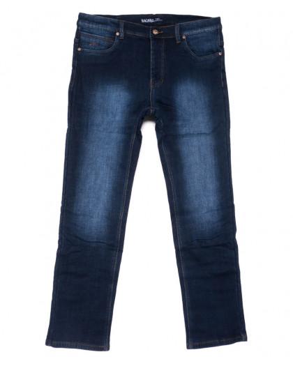 0180 Bagrbo джинсы мужские полубатальные синие на флисе зимние стрейчевые (32-38, 8 ед.) Bagrbo