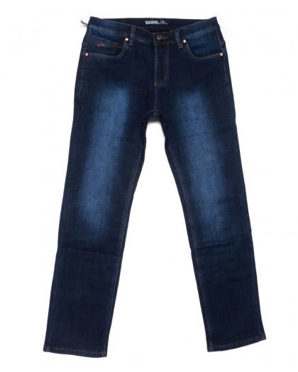 0182 Bagrbo джинсы мужские полубатальные синие на флисе зимние стрейчевые (32-42, 8 ед.) Bagrbo