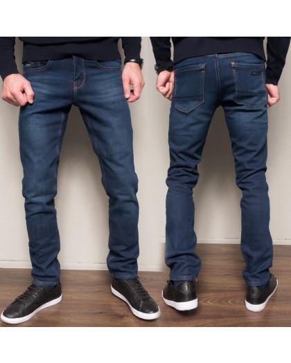 2104 Dsouaviet джинсы мужские синие на флисе зимние стрейчевые (29-38, 8 ед.) Dsouaviet