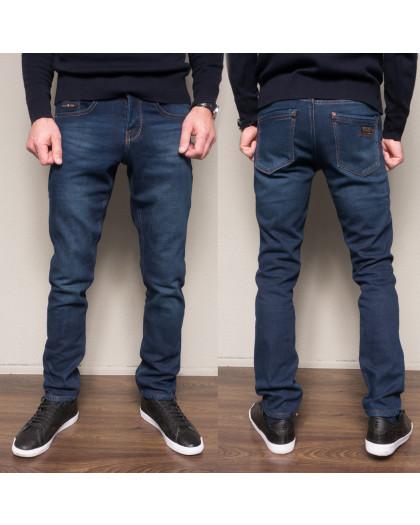 2087 Dsouaviet джинсы мужские синие на флисе зимние стрейчевые (29-38, 8 ед.) Dsouaviet