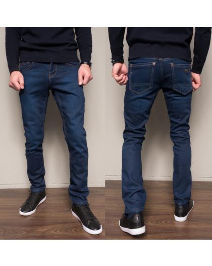 2103 Dsouaviet джинсы мужские синие на флисе зимние стрейчевые (29-38, 8 ед.) Dsouaviet