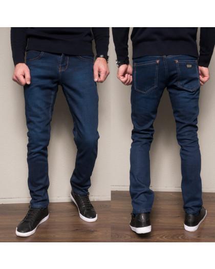 2089 Dsouaviet джинсы мужские синие на флисе зимние стрейчевые (29-38, 8 ед.) Dsouaviet