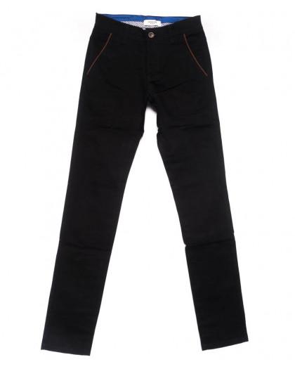 0716-34 New Feerars брюки мужские молодежные черные осенние стрейчевые (28-36, 8 ед.) New Feerars