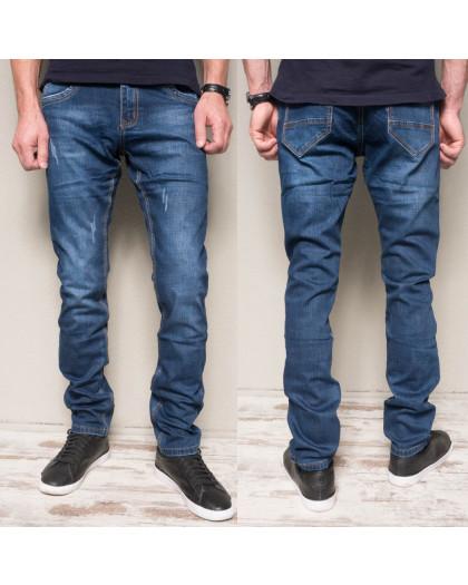 8381-8 Vingvgs джинсы мужские молодежные синие с царапками осенние стрейчевые (27-33, 6 ед.) Vingvgs