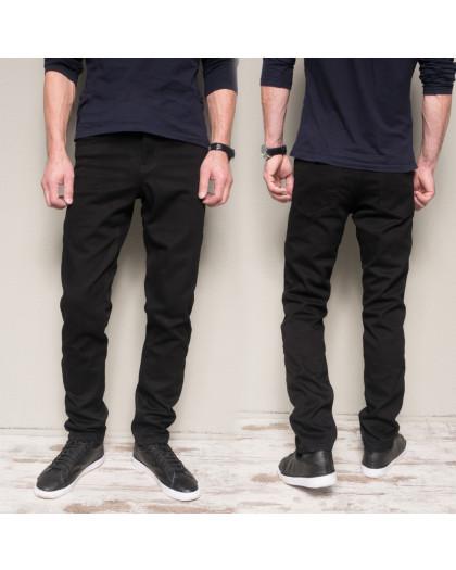 5009 Dsouaviet джинсы мужские черные на флисе зимние стрейчевые (29-38, 8 ед.) Dsouaviet