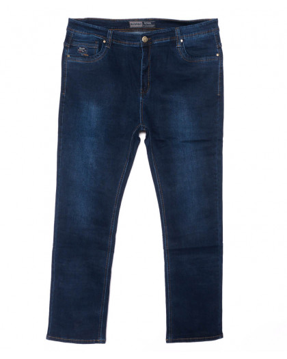 6652 Bagrbo джинсы мужские синие батальные весенние стрейчевые (34-44, 8 ед.) Bagrbo