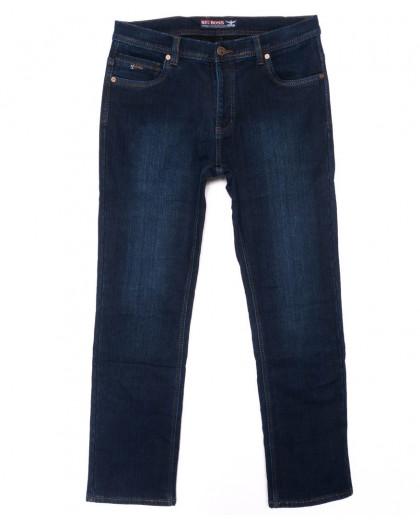 2882 Bigboss джинсы мужские синие полубатальные на флисе зимние стрейчевые (32-38, 8 ед.) Bigboss