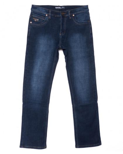 0186 Bagrbo джинсы мужские синие на флисе зимние стрейчевые (29-38, 8 ед.) Bagrbo