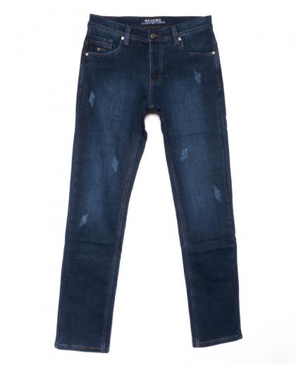 0880 Bagrbo джинсы мужские синие молодежные с царапками на флисе зимние стрейчевые (27-34, 8 ед.) Bagrbo