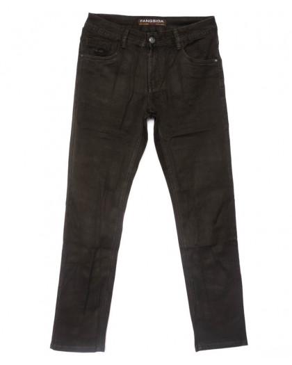 4059 Fangsida джинсы мужские полубатальные коричневые весенние стрейчевые (32-38, 8 ед.)  Fangsida