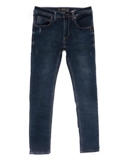 6162 Destry джинсы мужские c царапками синие весенние стрейчевые (29-36, 8 ед.) Destry