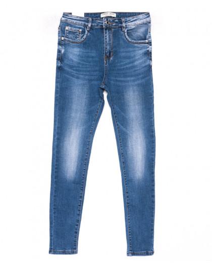 0318 Forest Jeans американка полубатальная синяя весенняя стрейчевая (28-33, 6 ед.) Forest Jeans
