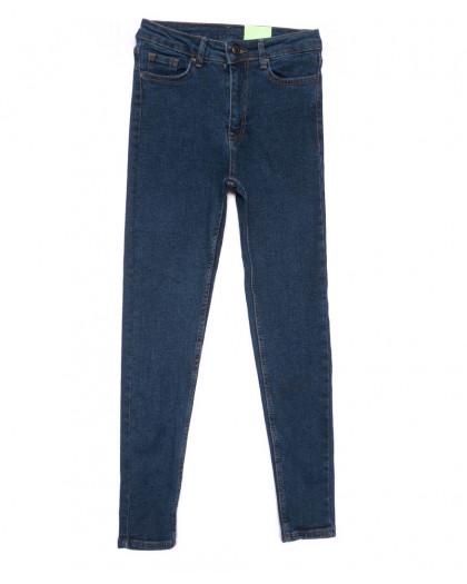 2177 X джинсы женские зауженные синие на байке зимние стрейчевые (34-42,евро, 8 ед.) X