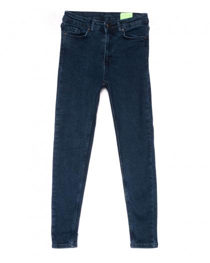2157 X джинсы женские зауженные синие на байке зимние стрейчевые (34-42,евро, 8 ед.) X