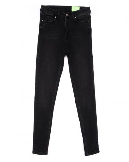 2183 X джинсы женские зауженные черные на байке зимние стрейчевые (34-42,евро, 4 ед.) X