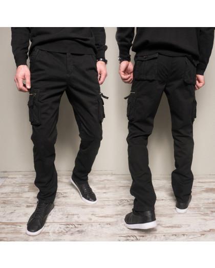 1862-black Forex брюки мужские молодежные карго на флисе зимние стрейч-котон (30-40, 10 ед.) Forex