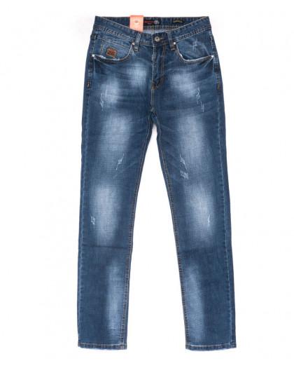 9904-3 R Relucky джинсы мужские с царапками синие весенние стрейчевые (29-38, 8 ед.) Relucky