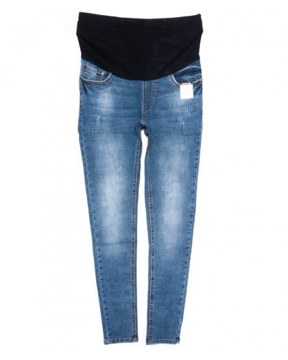 9991-4 B Relucky джинсы полубатальные для беременных синие весенние стрейчевые (28-33, 6 ед.) Relucky