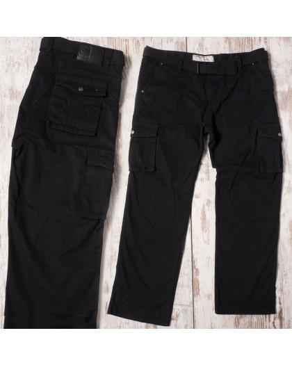 Брюки карго черные Iteno 8813-1 Iteno