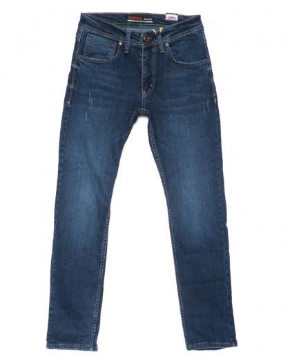 6354 Redcode джинсы мужские с царапками синие весенние стрейчевые (29-36, 8 ед.) Redcode