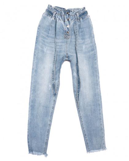 3630 New jeans мом синий весенний коттоновый (25-30, 6 ед.) New Jeans