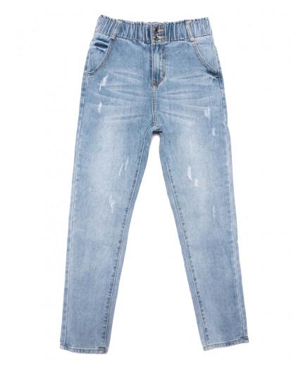 3629 New jeans мом с царапками синий весенний коттоновый (25-30, 6 ед.) New Jeans