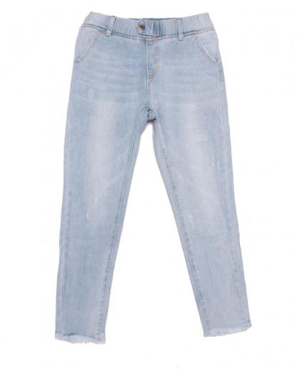 3628 New jeans мом с царапками голубой весенний коттоновый (25-30, 6 ед.) New Jeans