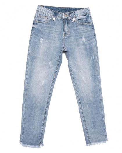 3633 New jeans мом с царапками синий весенний коттоновый (25-30, 6 ед.) New Jeans