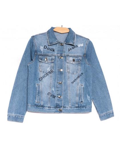0808 New jeans куртка джинсовая женская синяя весенняя коттоновая (XS-XXL, 6 ед.) New Jeans