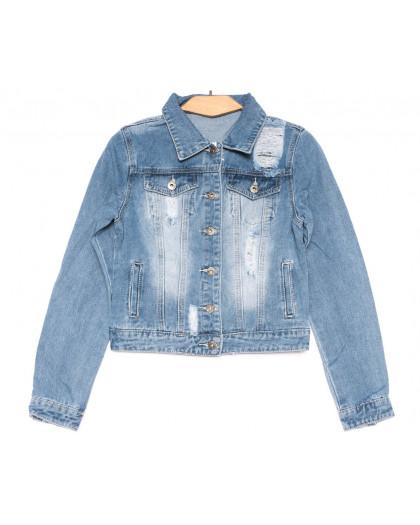 0802 New jeans куртка джинсовая женская синяя весенняя коттоновая (XS-XXL, 6 ед.) New Jeans