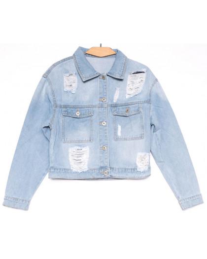 0806 New jeans куртка джинсовая женская голубая весенняя коттоновая (XS-XXL, 6 ед.) New Jeans