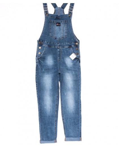 3324-1 Relucky комбинезон джинсовый женский полубатальный весенний коттоновый (28-33, 6 ед.) Relucky
