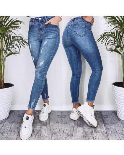 3570 New jeans американка синяя с царапками весенняя стрейчевая (25-30, 6 ед.) New Jeans