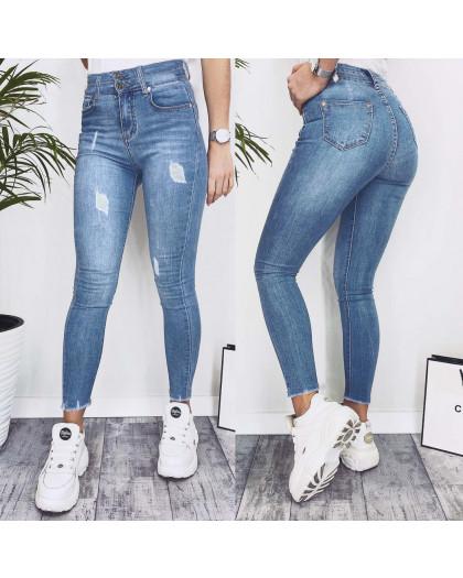 3638 New jeans джинсы женские зауженные синие весенние стрейчевые (25-30, 6 ед.) New Jeans