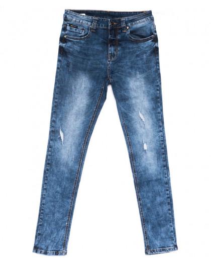 2043 New jeans джинсы мужские с царапками синие весенние стрейчевые (29-38, 8 ед.) New Jeans
