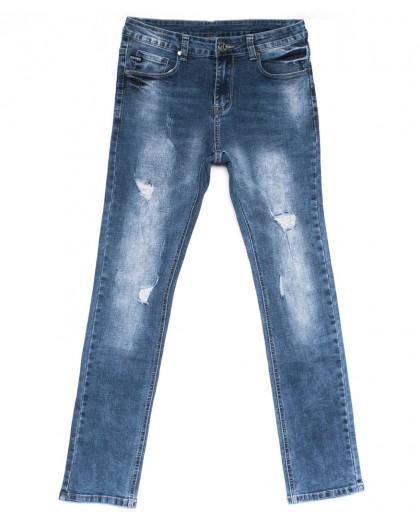 2044 New jeans джинсы мужские молодежные синие весенние стрейчевые (28-36, 8 ед.) New Jeans