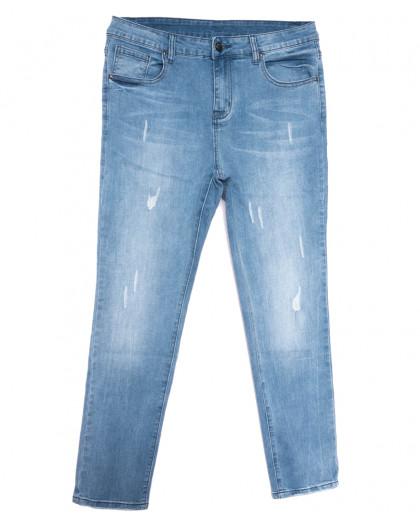 3684 New jeans американка батальная синяя весенняя стрейчевая (31-36, 6 ед.) New Jeans