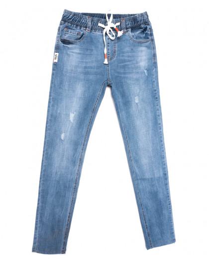 2040 New jeans джинсы мужские с рванкой синие весенние стрейчевые (29-38, 8 ед.) New Jeans