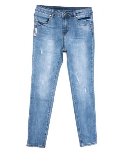 3685 New jeans американка полубатальная синяя весенняя стрейчевая (28-33, 6 ед.) New Jeans