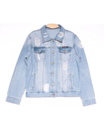 0810 New jeans куртка джинсовая женская синяя весенняя коттоновая (S-XXL, 6 ед.) New Jeans