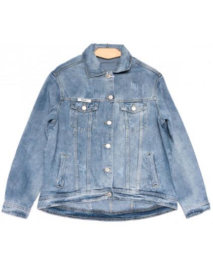 0807 New jeans куртка джинсовая женская синяя весенняя коттоновая (ХS-XXL, 6 ед.) New Jeans